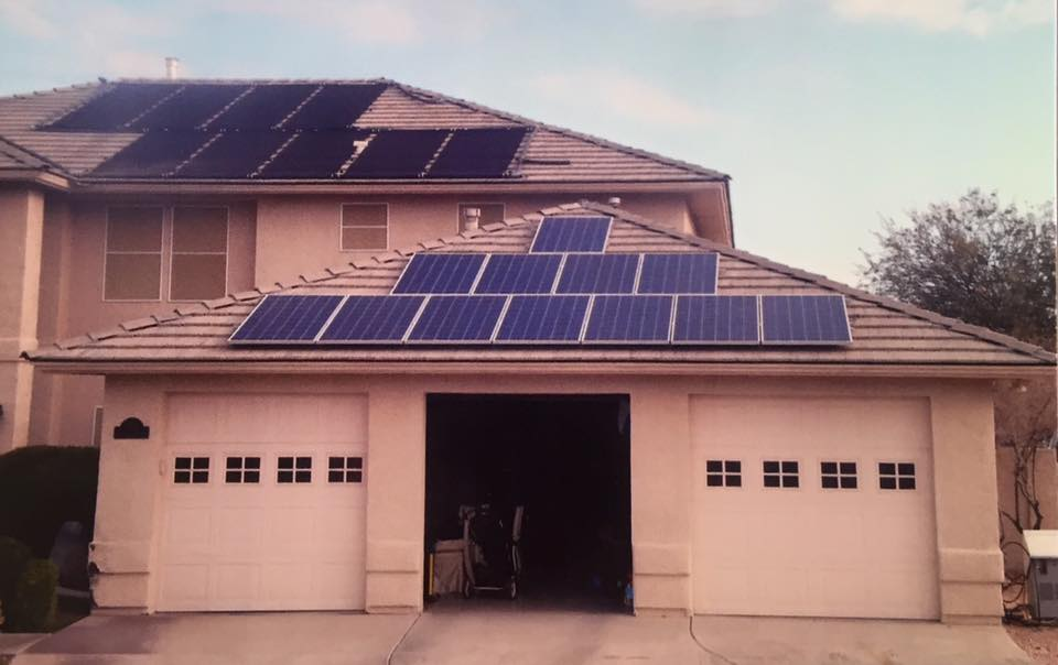 One Big House with Solar Panels
