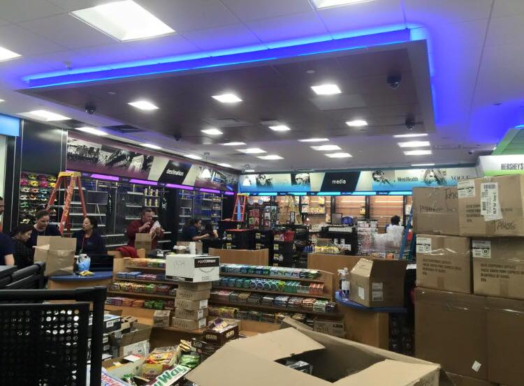 Led Lighting inside the Store